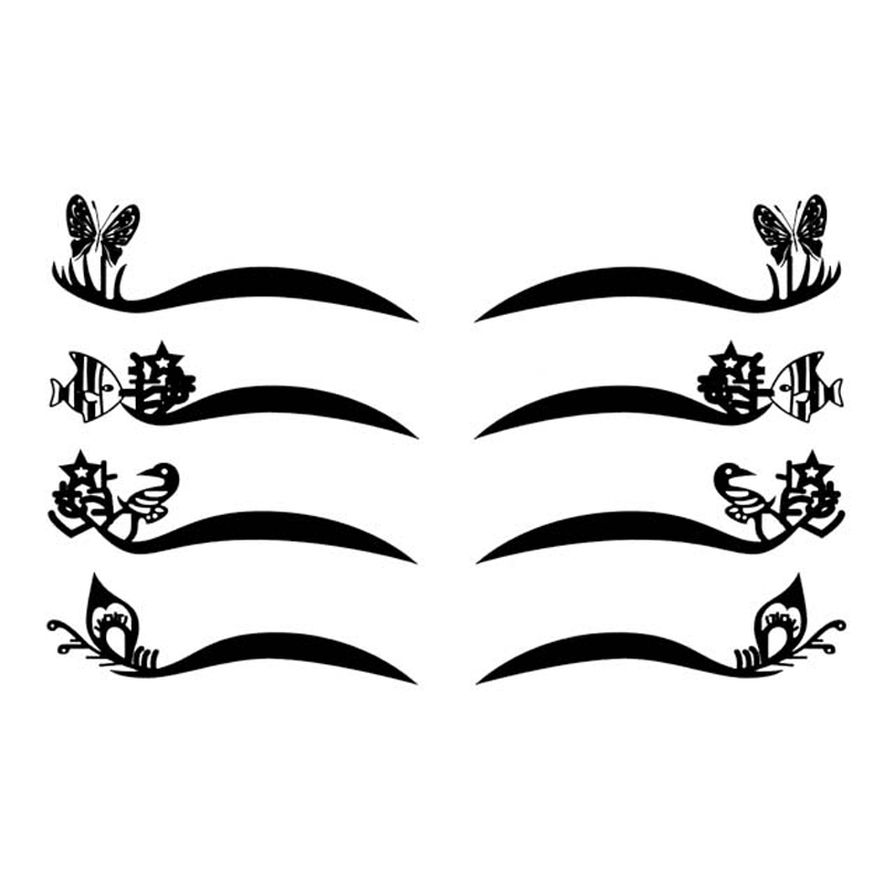 8Pair Cat Wing Eyeshadow Liner Eyelid Black Eyeliner Makeup Waterproof Eyeliner Adhesives Party Temporary Eyeliner Sticker Hot(China (Mainland))
