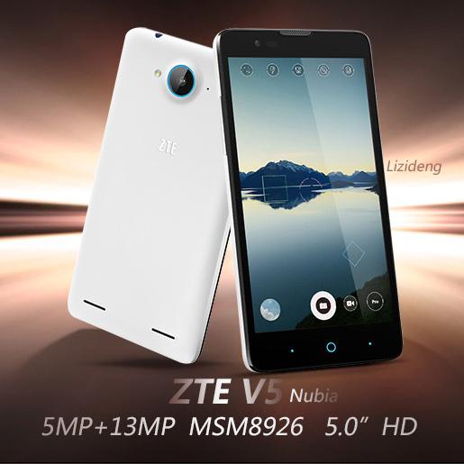 "Original ZTE V5 V9180 cell phone 5.0"" CGS wcdma Nubia Mobile Phone MSM8926 Android 4.4 1280x720 13MP Camera GPS Multi-language(China (Mainland))"