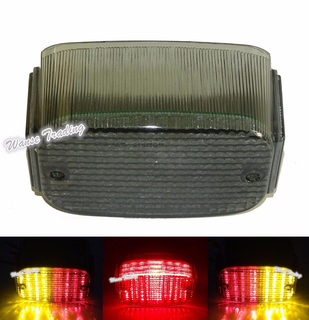 E-Marked Taillight Taillamp Tail Brake Turn Signals Integrated Led Light Smoke For 1996-2008 KAWASAKI Vulcan 1500 VN1500 Classic(China (Mainland))