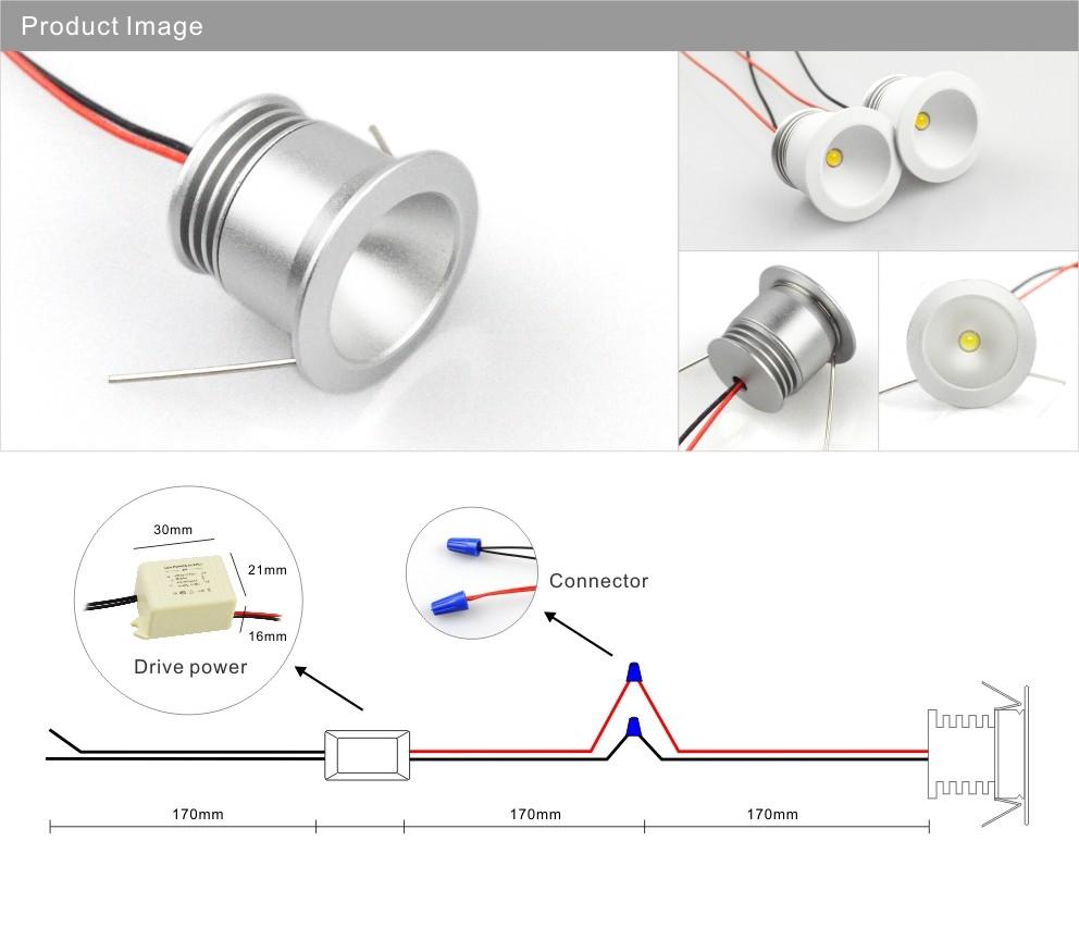 Led Light Mini Spot 3w 12v Lighting 60 G24 Wiring Diagram Spotlight Downlight 4