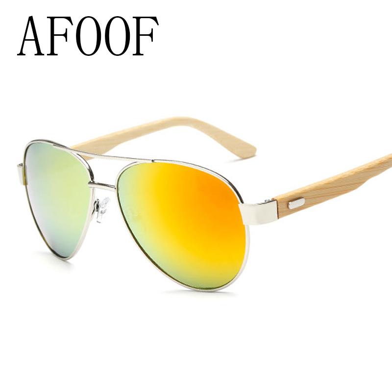AFOOF Hot 2016 New Hand Make Bamboo Sunglasses Brand Designer Men Women Coating Sun glasses Eyewear Goggle Oculos de sol(China (Mainland))