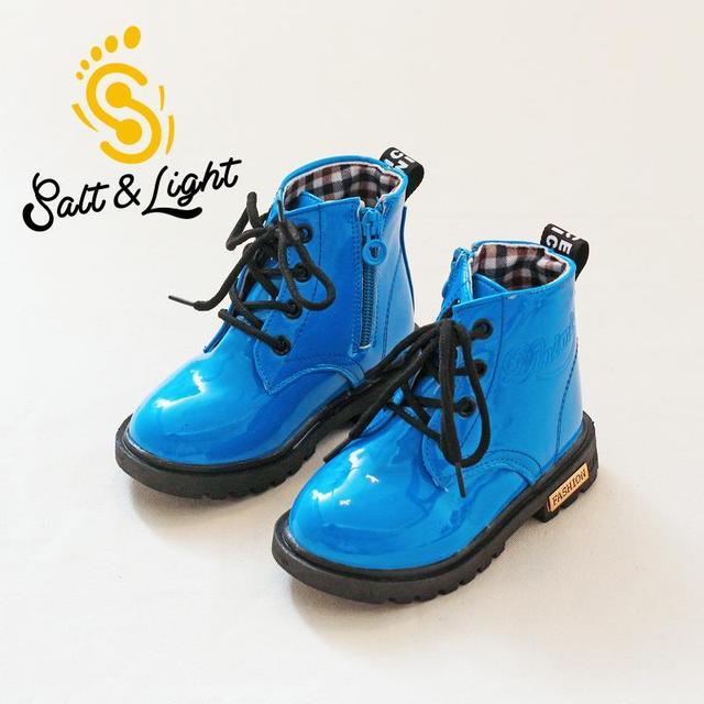 Зима 2016 детей плюс бархат анти обувь сапоги девушки юноши Мартин сапоги снега сапоги мода безопасности качество обувь для детей
