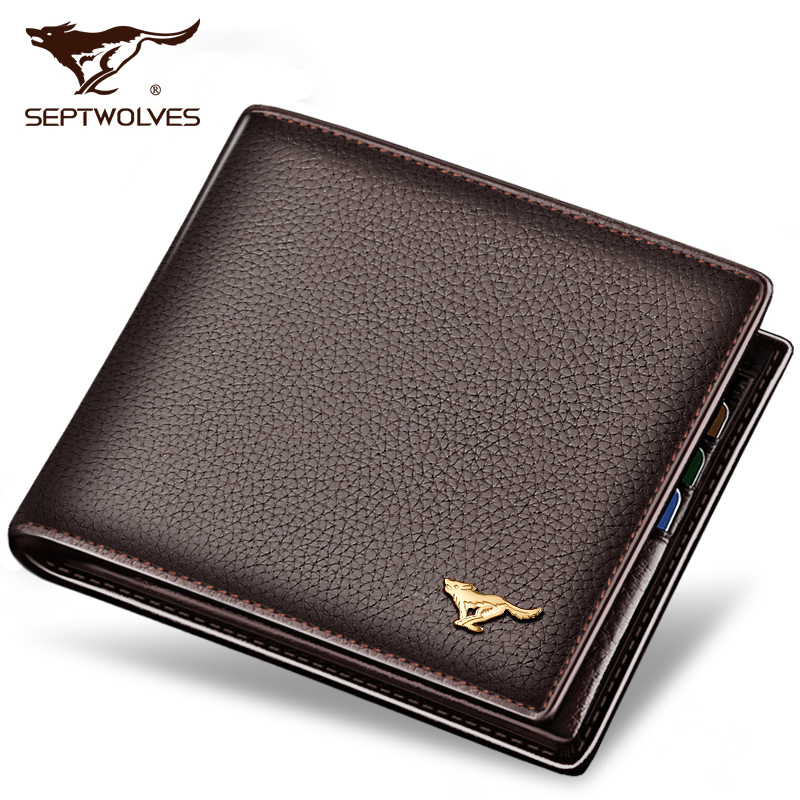 2016 famous brand genuine leather men wallets fashion brown short luxury male purse high quality with hasp<br><br>Aliexpress