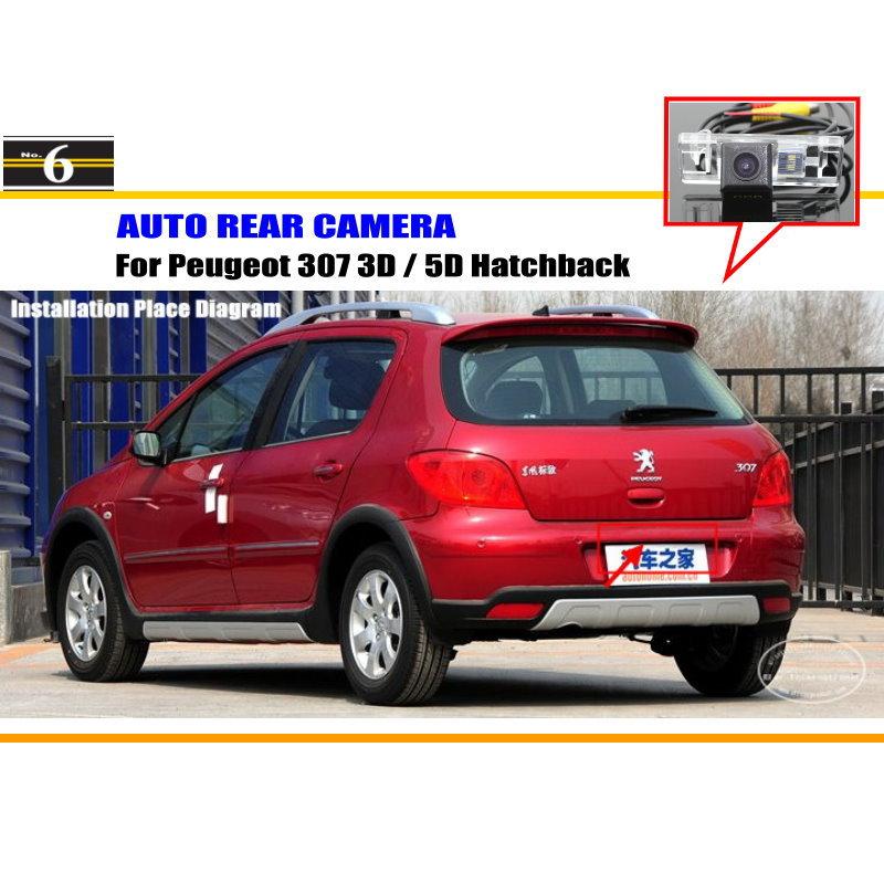 For Peugeot 307 3D / 5D Hatchback - Rear View Camera / Back Up Park Camera / HD CCD RCA NTST PAL / License Plate Light OEM(China (Mainland))