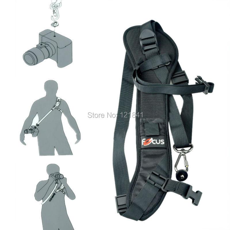 5pcs High Quality Focus F-1 Quick Carry Speed Sling soft Shoulder Sling Belt Neck Strap For Camera DSLR Black<br><br>Aliexpress