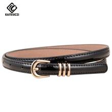 Buy KAITESICZI 2017 new wild simple fashion women's thin belt decoration belt waist chain female high-quality brand belt for $4.14 in AliExpress store