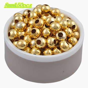 Hot Sale Charms Gold & Silver Plated Alloy Space Loose Beads DIY Bracelets & Necklaces Accessories 3 4 5 6 8 mm