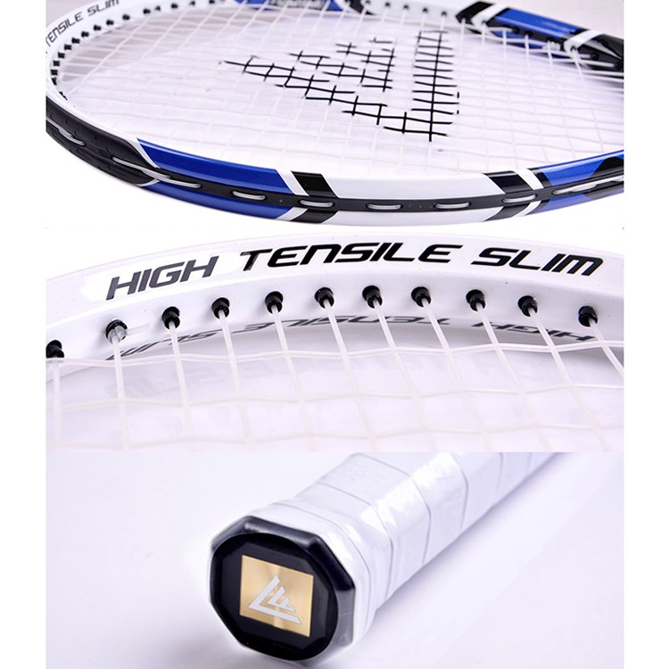 1 Piece Carbon Fiber Tennis Rackets Lenwave Brand Men Women Sports Training Tennis Raquete