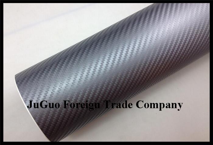 30x152cm lot automobile motorcycle decoration pvc ordinary carbon fiber film stickers gray
