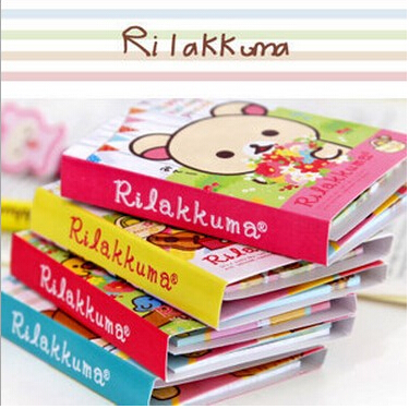 Гаджет  Free Shipping! New Cute rilakkuma style Notepad / Memo / 4 fold sticky note pad / notebook None Офисные и Школьные принадлежности