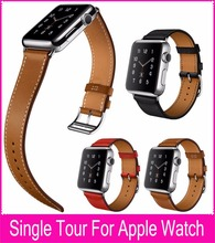 Latest Single Tour Leather Band For Correas Apple Watch 38mm 42mm With 1:1 Original Metal Adapters For Apple Watch Accessories