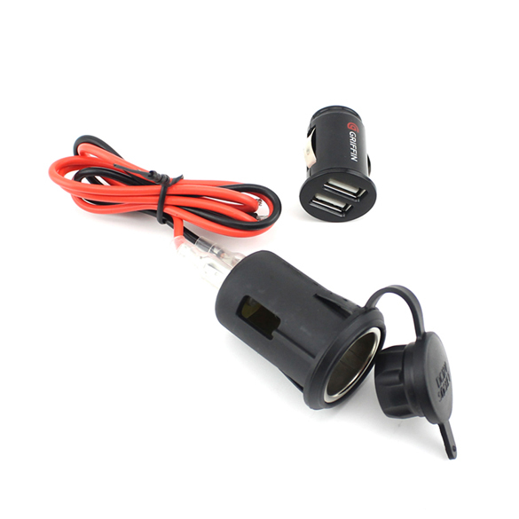 Waterproof Auto Car Vehicle Cigarette Lighter + USB Charger Power Adaptor Plug Socket for GPS Phone #1JT(China (Mainland))