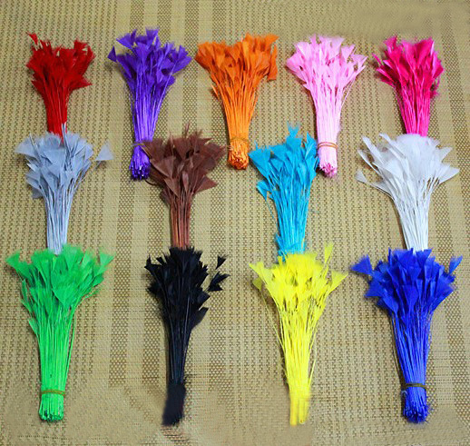 buy 200pcs lot 10 15cm feather stripped