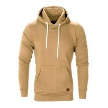 Mens Manga Comprida Outono Inverno Casual Camisola Hoodies Top Blusa camisolas Fatos de treino hoodies homens parágrafos(China)