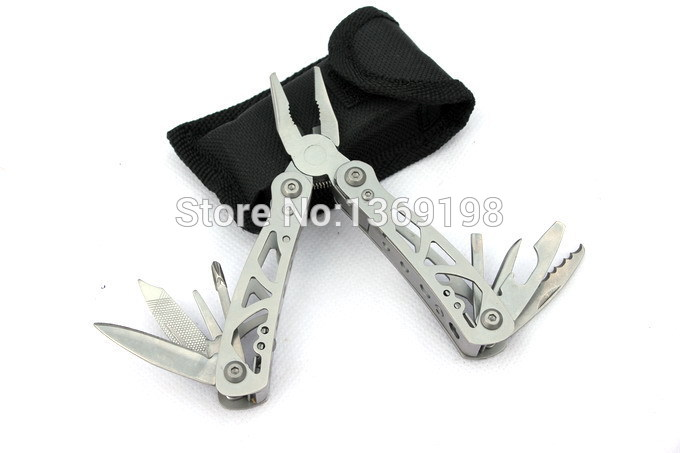 Buy High Quality Outdoor Survival Stainless Steel 9 In1 Tool Plier Portable Pocket Mini Knit Compact Knives Opener Pry bar Saw NF3 cheap