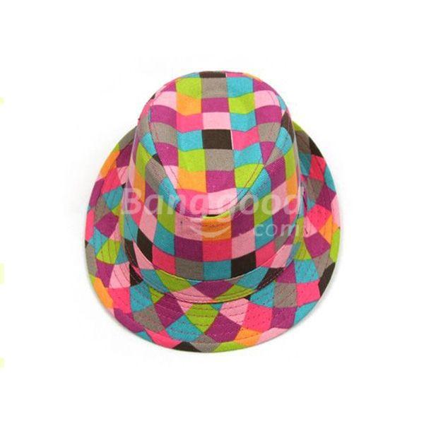 SoCool Colorful Baby Summer Cowboy Hats Children Jazz Cap Kids Headgear(China (Mainland))