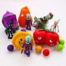 5Pcs/Set Plants vs Zombies Popular Game PVC Action Figures Anime Model PVZ Kids Toys Plant + Zombies 10CM Figures Toys Gifts