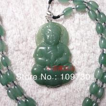 discount emerald Oil Green Jadeite A Jade Goddess of Mercy pendant Mens Gift Certificate dh 0029(China (Mainland))
