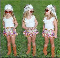 2015 году летние дети одежда наборы повседневный стиль маленьких девочек Одежда без рукавов жилет + шорты костюм