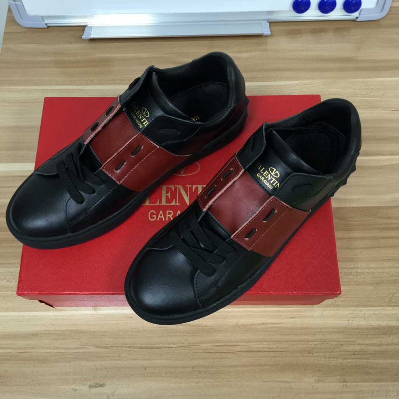 New arrive Designer brand Valentin men shoes valentines sneakers Genuine Leather Sports Valentine Rockrunner shoes high quality(China (Mainland))