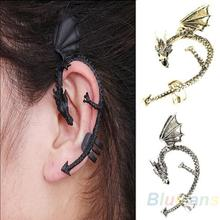Hot Selling Retro Vintage Gothic Rock Punk Twine Dragon Shape Ear Cuff Clip Earring Earrings Women Men Sale 1O65(China (Mainland))