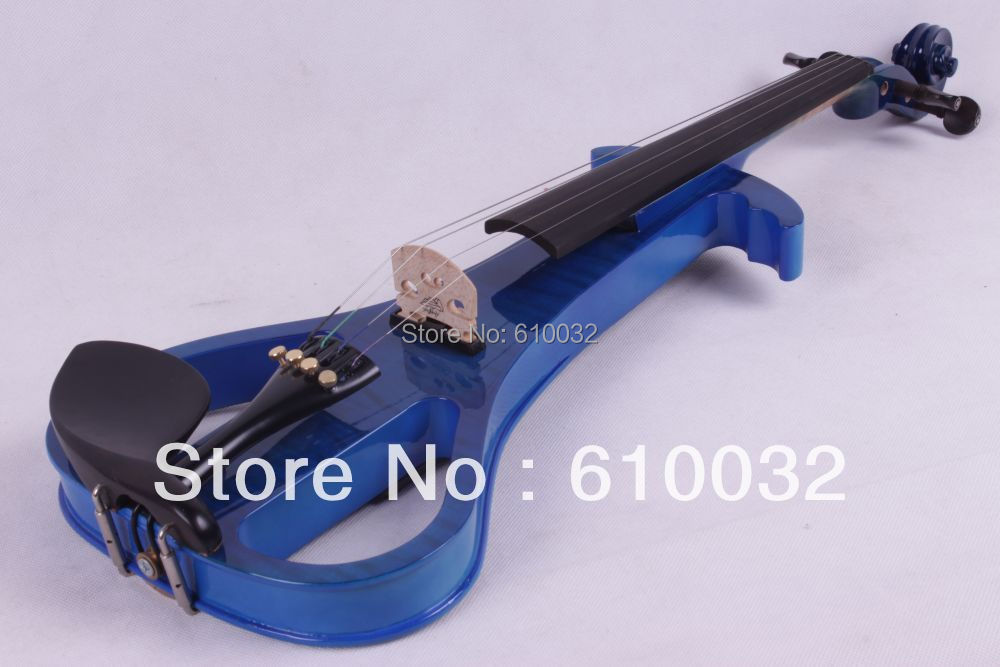 4/4 Electric Violin Solid wood 3-11# blue     color 4   string<br><br>Aliexpress