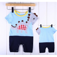 High Quality 1pc Boy Kids Baby Toddler Infant Cute Dinosaur Romper Jumpsuit Clothing Outfit KS0129