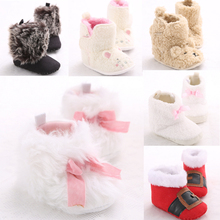 Pretty Baby Girls boys Newborn Winter Warm Boots Toddler Infant Soft Shoes 3 size 0-18months(China (Mainland))