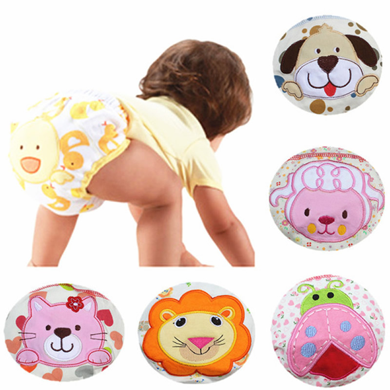 Newborn Baby Animal Print LABS Training Pants Reusable Nappies Washable Diapers Cotton Learning Pants for Infant Boy Girls(China (Mainland))