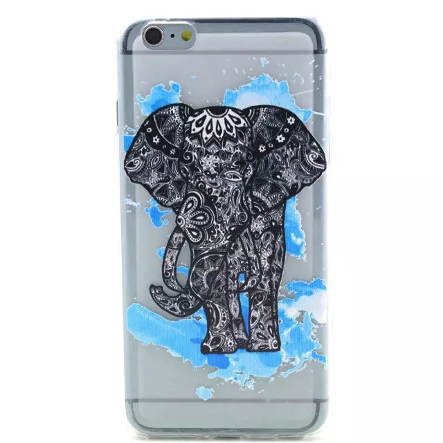 Relief Pattern Soft TPU Case Cover For iPhone 6 Plus(China (Mainland))