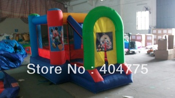 2013 hot sale inflatable micky mouse mini bouncer +1 CE/UL blower+free shipping with digital printing