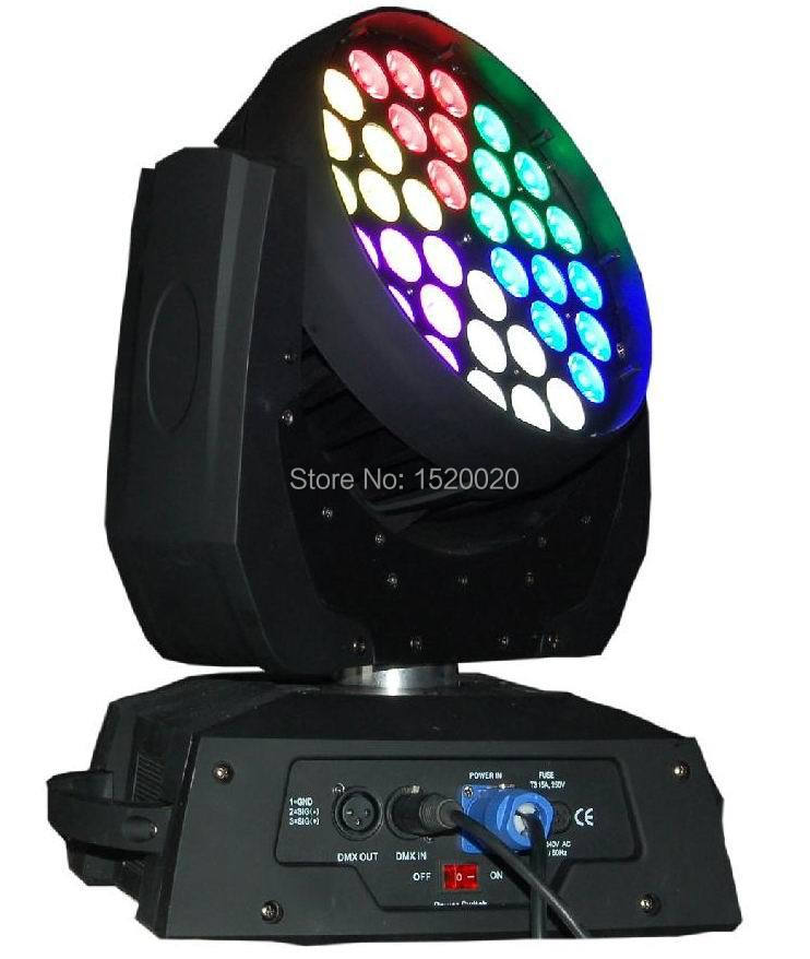 New RGBW led wash fixture 25 degree lens 36*10w led moving head wash light 6 section individual control dmx stage wash lighting(China (Mainland))