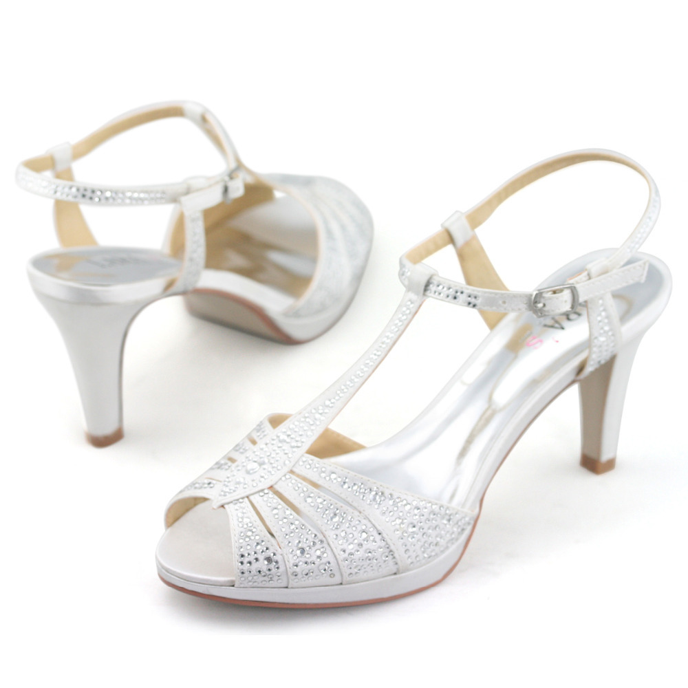White And Silver High Heels