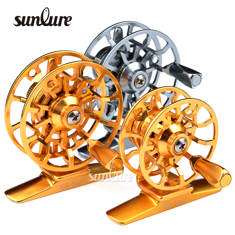 1pc Top Quality Fishing Reel Exported to Japan Glod/Silver Fly Reel 45g Fly Fishing Wheel Diameter 60mm HI45R/HI55R(China (Mainland))