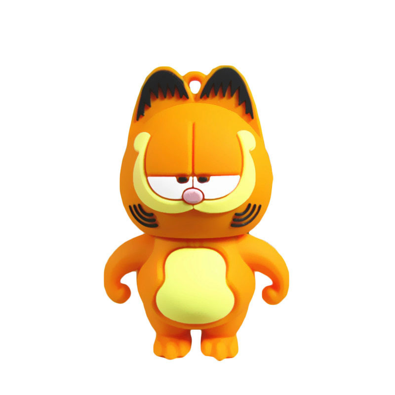 HOT SELL lovely Pen Drive Garfield cat 4GB 8GB 16GB 32GB Usb Flash Drive memory stick Pendrive Pendriver mini gift free shipping(China (Mainland))