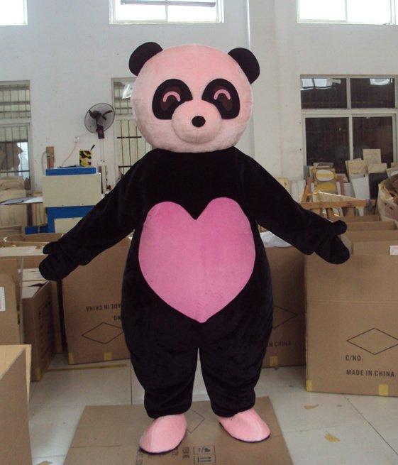 Cosplay panda bear teen w purple eyes pov dildo