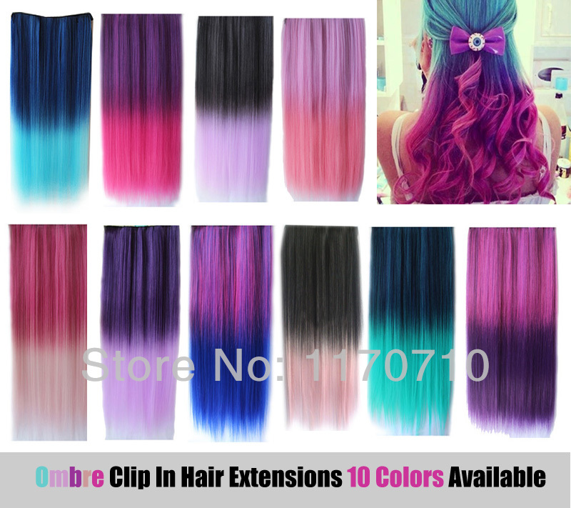 colorful ombre hair extensions 14 clip in hair