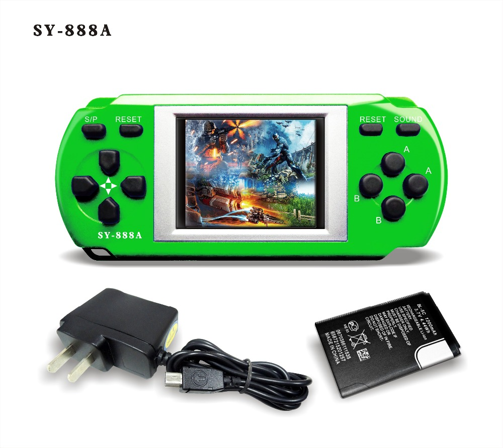 Popular high quality green 1.8 inch color pocket kids adults Christmas gifts handheld video game consoles(China (Mainland))
