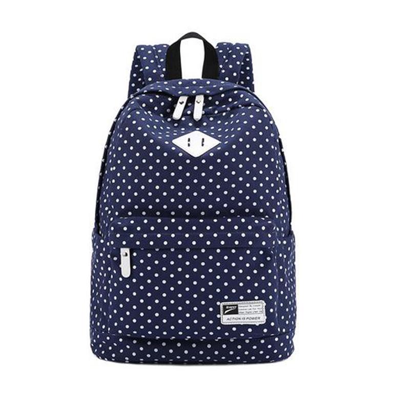 2015 new fashion women girls Canvas Backpack Polka Dot School Shoulder Bag Travel Rucksacks BG313<br><br>Aliexpress