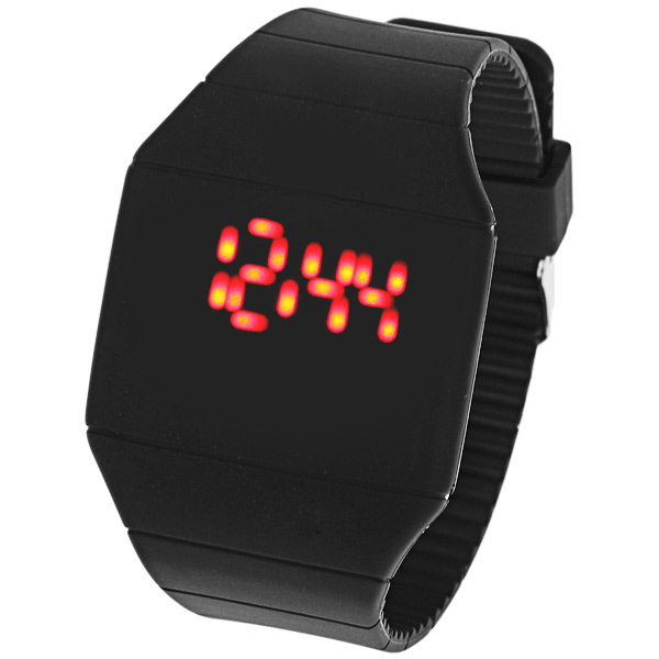 New Colorful Unisex Men Women LED Digital Touch Screen Silicone Date Time Sport Wrist Watch(China (Mainland))