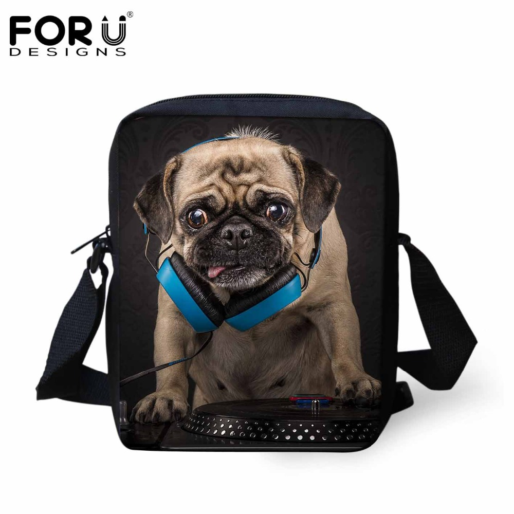 Hot 2016 NEW Men Messenger Bags Casual Small Men's Travel Bag Funny Rock Band Dog Bulldog Fashion Outdoor Crossbody Bag for Men(China (Mainland))