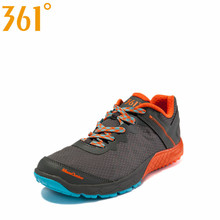 361 Men s Hard Wearing Breathable Outdoor Athletic Hiking Shoes Spring Mesh Design Damping Lace Up
