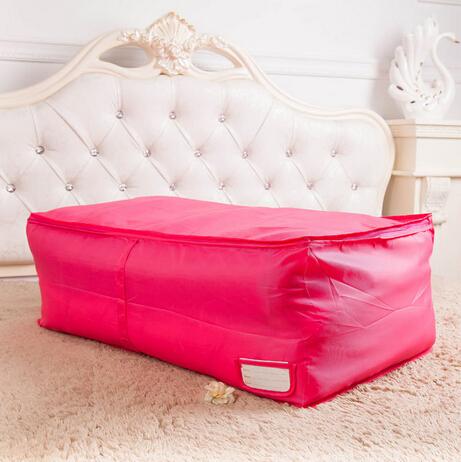 Large oxford quilt storage box household garment organizer convenient closet blanket storage bags(China (Mainland))