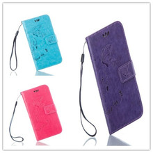 Wallet With Stand Leather Case for Sony Xperia Z2 C770x Retro Phone Accessories Luxury Embossed Cover for Xperia Z2