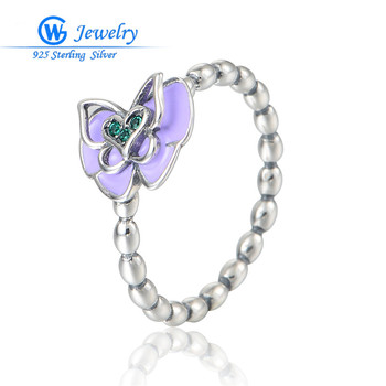 925 Sterling Silver Butterfly Rings For Women Best Gift For Valetines Day Gw Fine Jewelry RIPY065