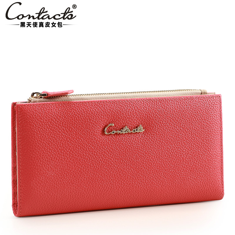 Women's sweet wallet female long design genuine cowhide fashion leather day clutch mobile phone multifunctional large capacity