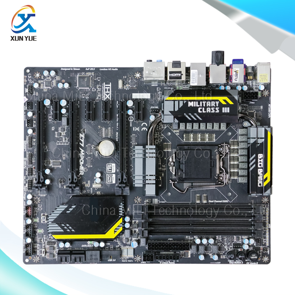 MSI Z77 MPOWER Original Used Desktop Motherboard Z77 Socket LGA 1155 i3 i5 i7 DDR3 USB3.0 ATX On Sale(China (Mainland))