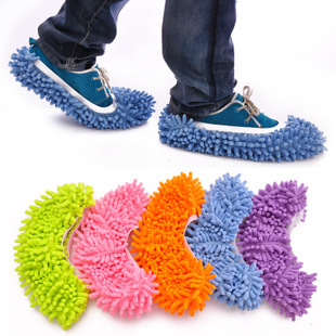 Free Shipping Dust Cleaner House Bathroom Floor shoes cover Cleaning Mop Cleaner Slipper Lazy Shoes Cover(China (Mainland))
