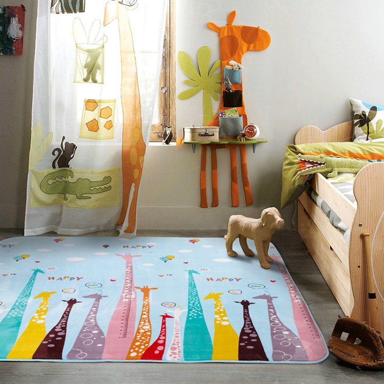 Foreign Trade Cartoon Carpets For Children Bedroom
