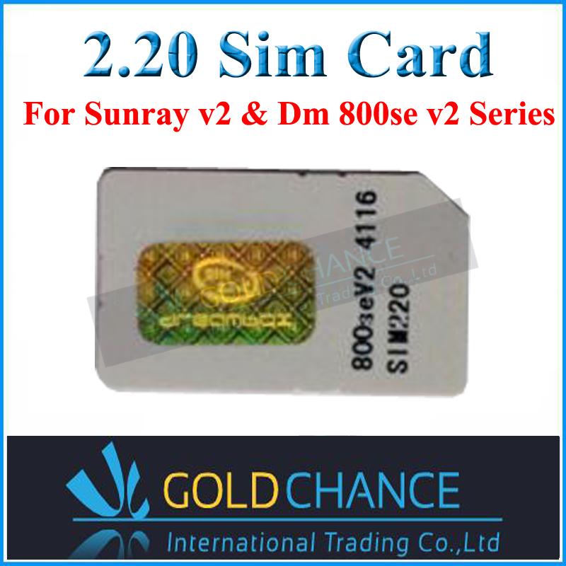 2PC/LOT Sim 2.20 Card / 2.20 Sim Card  for DM 800se V2 ,SR4 V2, Free Shipping<br><br>Aliexpress